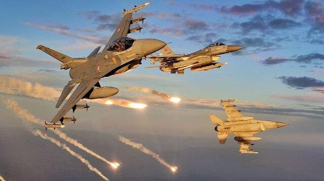 Terör örgütü hedeflerine hava harekatları düzenlendi.