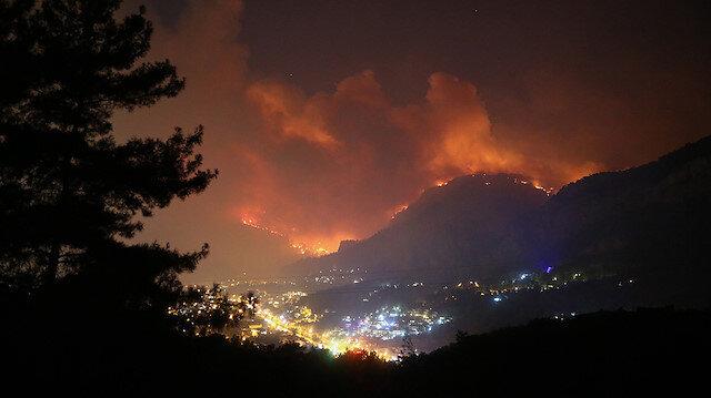 Dalaman'da çıkan orman yangını