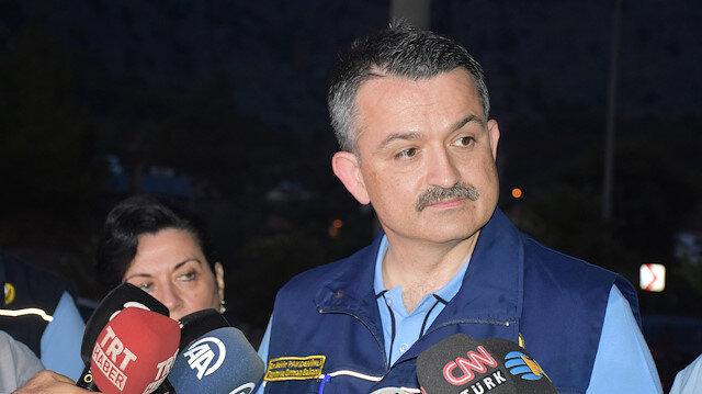 Pakdemirli'den yangın açıklaması: Mücadele gece boyunca devam edecek
