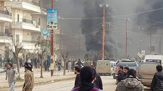 Saldırıyı terör örgütü YPG/PKK'nın düzenlediği ihtimali üzerinde duruluyor.