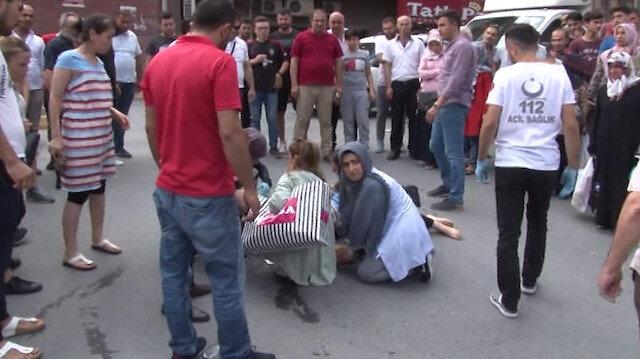 Hamile kadına kamyonet çarptı olayı gören tüm vatandaşlar seferber oldu