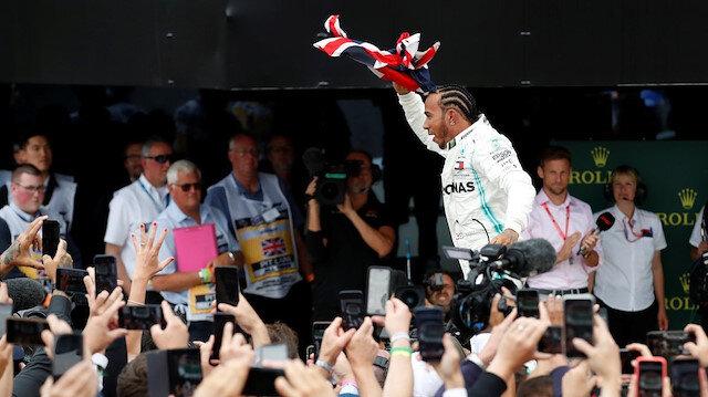 Silverstone'da Hamilton'dan tarihi zafer