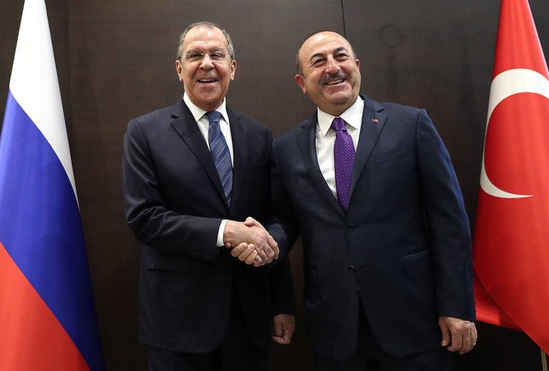 Lavrov ve Çavuşoğlu.