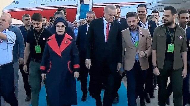 Cumhurbaşkanı Erdoğanı Atatürk Havalimanında 15 Temmuz Gazileri karşıladı