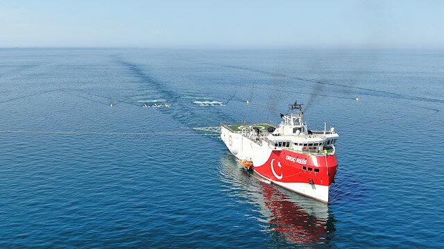 İlk yerli ve milli sismik araştırma gemisi Oruç Reis de Akdeniz'e gidiyor.