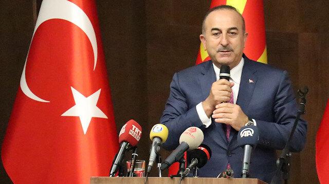 Dışişleri Bakanı Mevlüt Çavuşoğlu Üsküp'te konuştu.