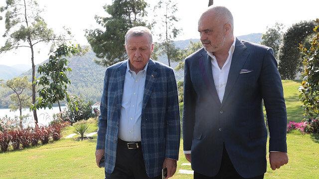 Cumhurbaşkanı Erdoğan Arnavutluk Başbakanı Rama'yı kabul etti