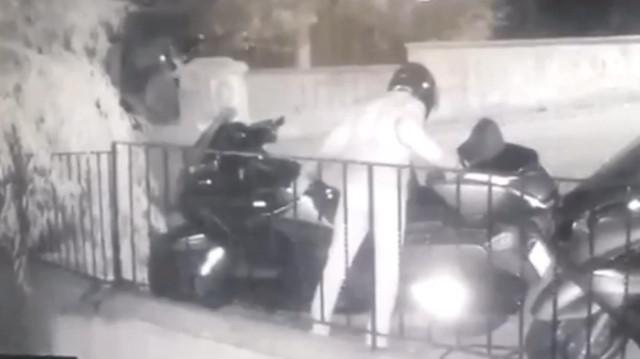 Kasklı motosiklet hırsızlığı çetesi kamerada