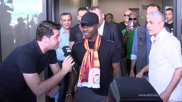 Galatasarayın yeni transferi Jean Michael Seri İstanbulda