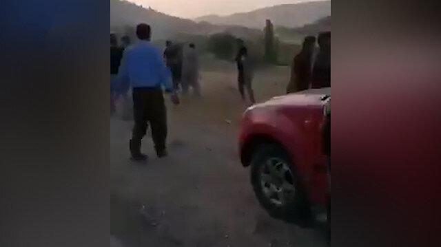 Kuzey Irakta Türk savaş uçaklarından kaçan PKKlılar dövülerek köyden çıkarıldı