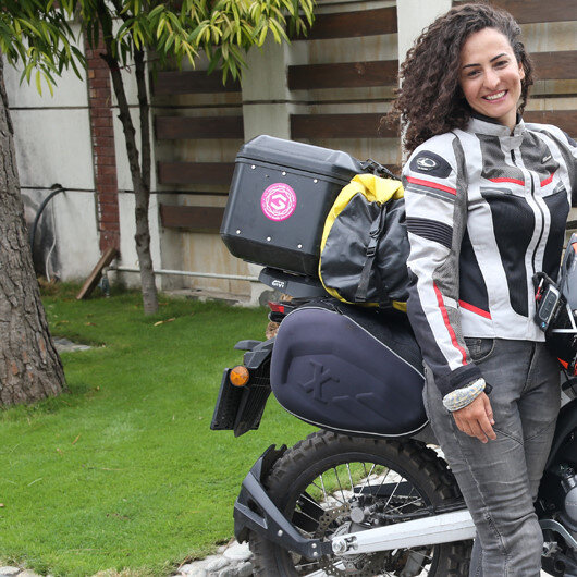 Pakistan is one of the safest countries, says Turkish woman travelling the world on motorcycle
