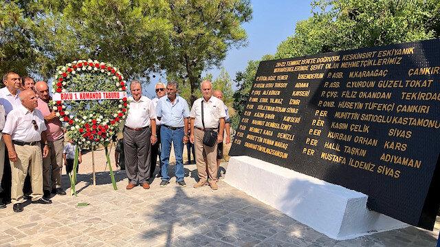 Kıbrıs kahramanları 45 yıl sonra o tepede bir araya geldi