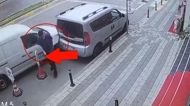 Ölümden kıl payı kurtuluş: Uyuyakalan sürücü yayayı teğet geçti