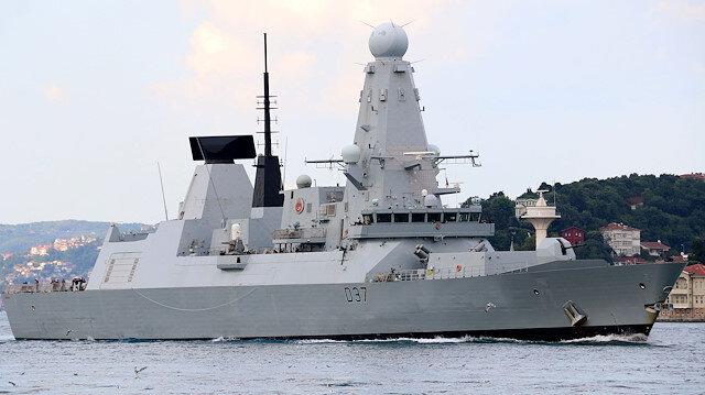 Hürmüz Körfezi'nde görevlendirildiği belirtilen İngiliz savaş gemisi Boğaz'dan geçti