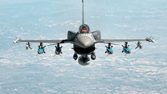 Terör örgütü hedeflerin hava operasyonu düzenlendi.