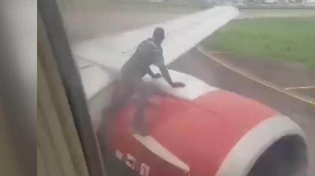 Havalimanında inanılmaz görüntü