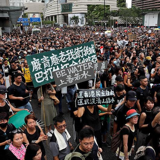 Hong Konglular 10 binlerce kişinin katılacağı protesto gösterisine hazırlanıyor