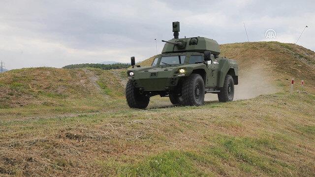 Türkiyenin elektrikli zırhlısı Akrep IIe ilk kez araziye çıktı