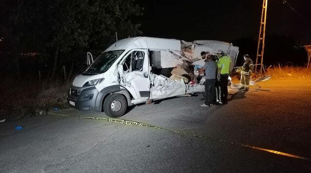 Şile yolunda feci kaza: 2 ölü 5 yaralı