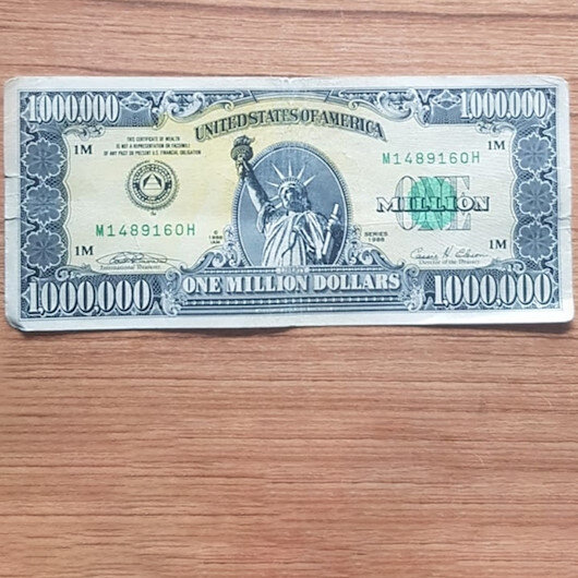 'Amerikan rüyası'nın sembolü 1 milyon dolarlık banknot Uşak'ta ele geçirildi