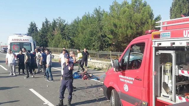 Edirne'de trafik kazası: Aynı aileden 4 ölü
