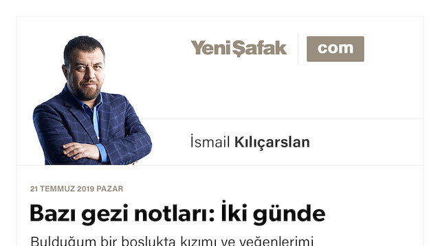 Bazı gezi notları: İki günde Anadolu