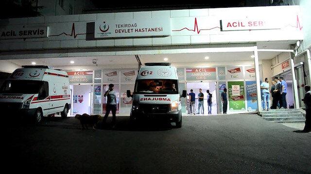 Tekirdağ'da dönerden zehirlenenler hastanede tedaviye alındı