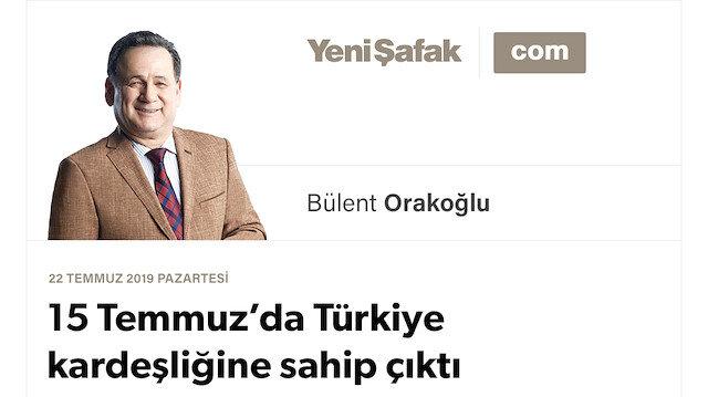15 Temmuz'da Türkiye kardeşliğine sahip çıktı