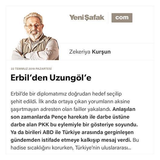 Erbil'den Uzungöl'e
