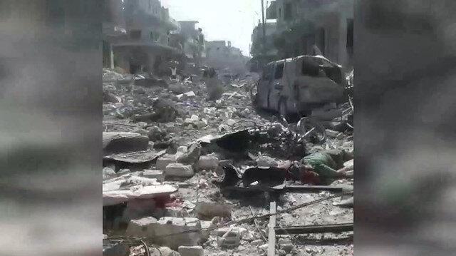 Rus savaş uçakları İdlibdeki pazar yerini vurdu