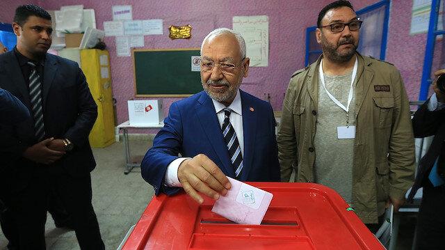 Nahda Hareketinin lideri Gannuşi başkent Tunus'tan birinci sıra milletvekili adayı