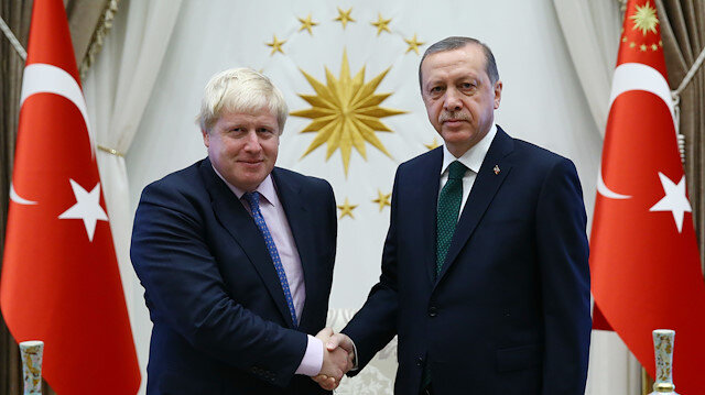 President Erdoğan congratulates UK's Boris Johnson