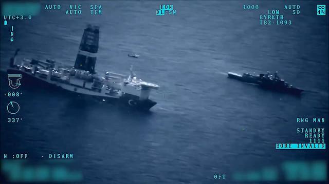 Doğu Akdenizdeki sondaj gemilerimize TSKdan koruma kalkanı!