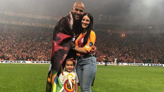Marcao, şampiyonluk kutlamalarına ailesiyle birlikte katılmıştı.