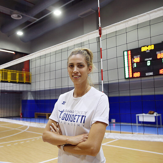 Fenerbahce player's summer volleyball camp trains girls
