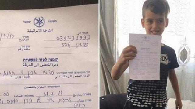İsrail şimdi de 6 yaşındaki Filistinli çocuğu ifadeye çağırdı