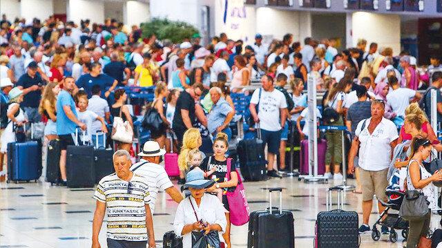 21 milyon turistten 12,6 milyar dolar gelir