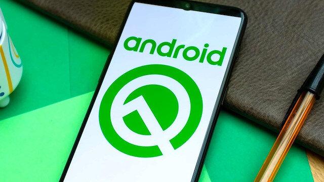 Android Q logosu.