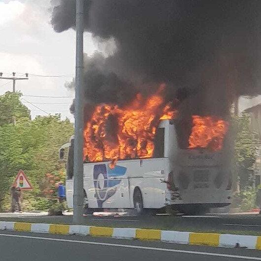Balıkesir'de yolcu otobüsünde yangın: 5 kişi hayatını kaybetti