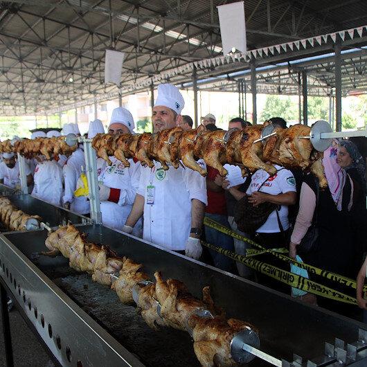 Turkey's 111m rotisserie spit tries to beat world record