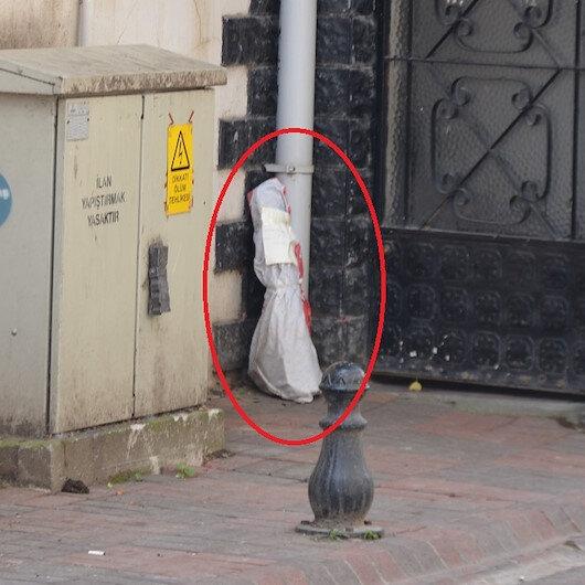 'Sakın açmayın polise teslim edin' yazılı çuvaldan lav silahı ile el bombaları çıktı