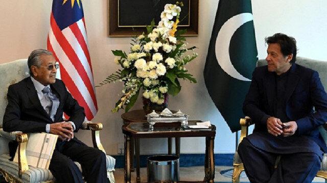 İmran Han Malezya Başbakanı Mahathir'le Keşmir'i görüştü