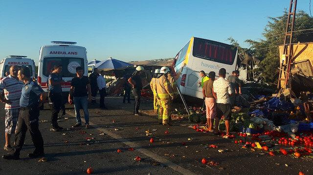 Kaza sonrası olay yerine ekipler gönderildi.