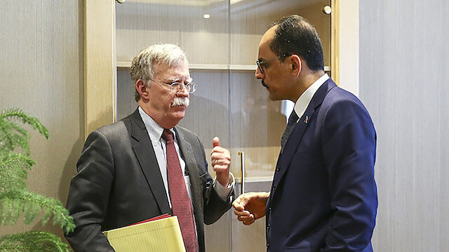İbrahim Kalın ile John Bolton 'Güvenli Bölge' için görüştü