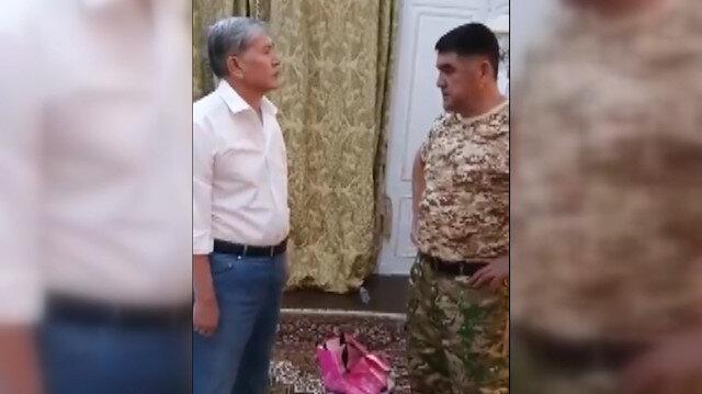 Kırgızistan eski Cumhurbaşkanı Atambayevin gözaltına alınma anı