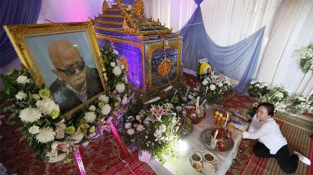 Kızıl Khmer lideri Nuon Chea'nın cenaze töreni .