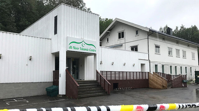 File photo: A view of the al-Noor Islamic Centre mosque in Sandvika, Norway August 11, 2019.