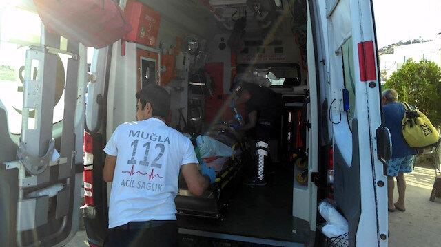 Bodrum'da sürat teknesinin çarptığı kadın yaralandı