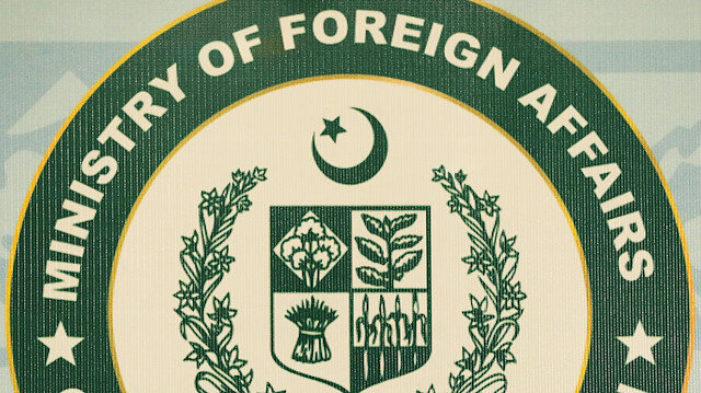 The logo of the Pakistan's Ministry of Foreign Affairs (MoFA), is seen