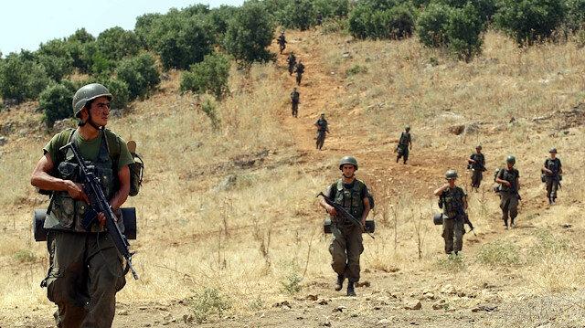 Terör operasyonlarına katılan askerler. Fotoğraf: Arşiv.